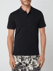 Czarny t-shirt Selected Homme z bawełny z krótkim rękawem
