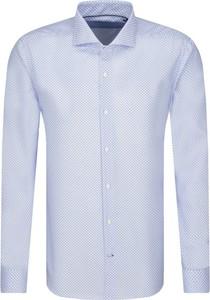 Niebieska koszula Joop! z włoskim kołnierzykiem
