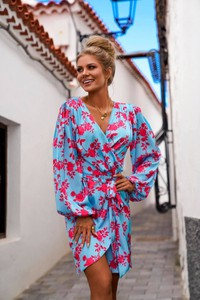 Sukienka Ella Boutique kopertowa z dekoltem w kształcie litery v