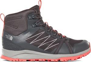 Buty trekkingowe The North Face z płaską podeszwą sznurowane z goretexu