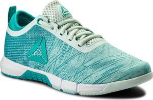 Buty sportowe reebok w młodzieżowym stylu sznurowane ze skóry ekologicznej