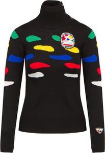 Czarny sweter ROSSIGNOL z wełny w stylu casual