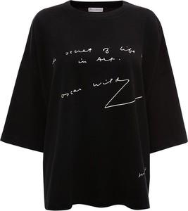 Czarny t-shirt Jw Anderson