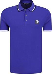 Niebieska koszulka polo Michael Kors w stylu casual