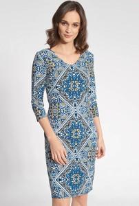 Sukienka QUIOSQUE mini z długim rękawem dopasowana
