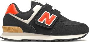 Czarne buty sportowe dziecięce New Balance na rzepy