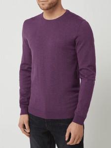 Fioletowy sweter McNeal z okrągłym dekoltem z bawełny