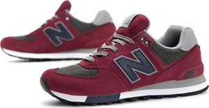Czerwone buty sportowe New Balance ze skóry 574