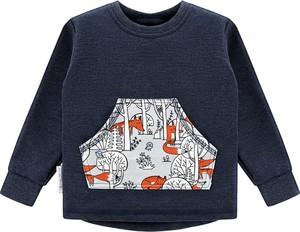 Niebieska bluzka dziecięca Ekoubranka dla chłopców