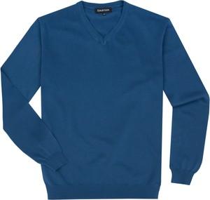 Niebieski sweter producent niezdefiniowany z bawełny