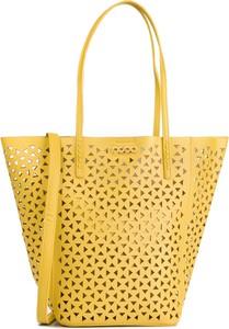 Żółta torebka eobuwie.pl zdobiona na ramię