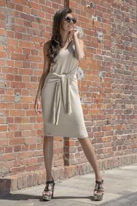 Sukienka Fobya midi w stylu casual z bawełny