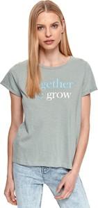 T-shirt Drywash z krótkim rękawem z bawełny