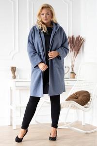 Niebieski płaszcz Sklep XL-ka z jeansu