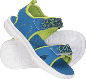 Niebieskie buty dziecięce letnie Mountain Warehouse na rzepy dla chłopców