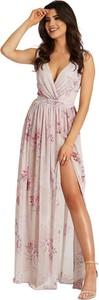 Sukienka Ivon z dekoltem w kształcie litery v maxi na ramiączkach