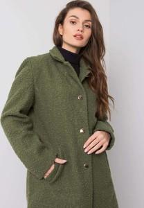 Zielony płaszcz Sheandher.pl w stylu casual