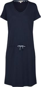 Granatowa sukienka Barbour z krótkim rękawem