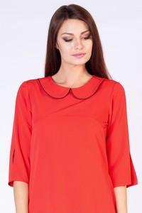 Sukienka butik-choice.pl z długim rękawem z kołnierzykiem