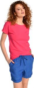 Niebieskie szorty Nessi Sportswear z lnu w stylu casual