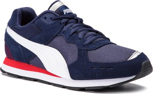 Niebieskie buty sportowe Puma z zamszu