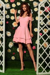 Różowa sukienka Lemoniade z krótkim rękawem hiszpanka