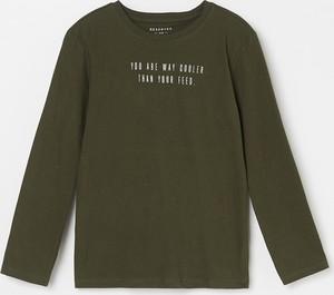 Zielona koszulka dziecięca Reserved z długim rękawem