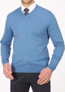 Niebieski sweter Lanieri w stylu casual