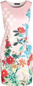 Sukienka born2be z okrągłym dekoltem mini w street stylu