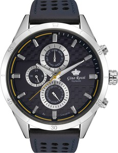 Zegarek męski Gino Rossi Exclusive - MOONE - E11444A - Granatowy sk