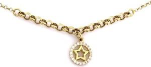 Lovrin Złoty naszyjnik 585 elegancka kolia z kółkiem i gwiazdką