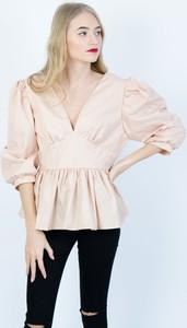 Różowa bluzka Olika z długim rękawem