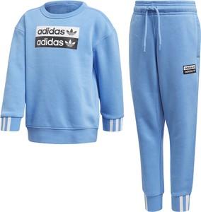 Niebieski dres dziecięcy Adidas
