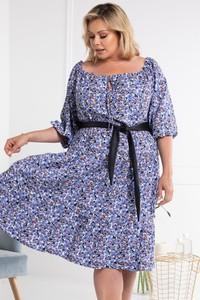 Niebieska sukienka KARKO mini