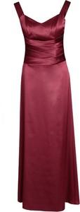 Sukienka Fokus z satyny z dekoltem w kształcie litery v