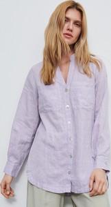 Fioletowa koszula Reserved z lnu