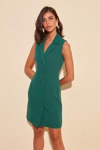 Zielona sukienka Trendyol bez rękawów mini