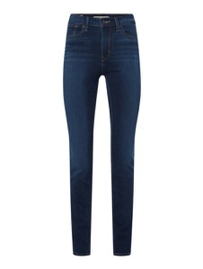 Granatowe jeansy Levis z bawełny