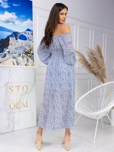 Niebieska sukienka ESCOLI maxi