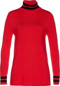 Czerwony sweter bonprix bpc selection w stylu casual