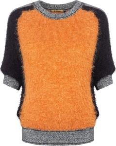 Pomarańczowy sweter Ochnik w stylu casual