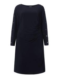 Granatowa sukienka Lauren Curve z okrągłym dekoltem