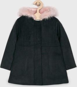 Czarny płaszcz dziecięcy Name it z bawełny