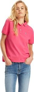 Różowy t-shirt Tommy Jeans w stylu casual