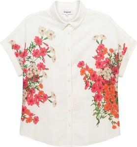 Koszula Desigual z płótna w stylu casual