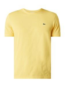 Żółty t-shirt Lacoste z bawełny