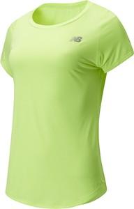Bluzka New Balance z krótkim rękawem z okrągłym dekoltem w sportowym stylu