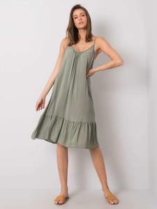 Zielona sukienka Sheandher.pl na ramiączkach