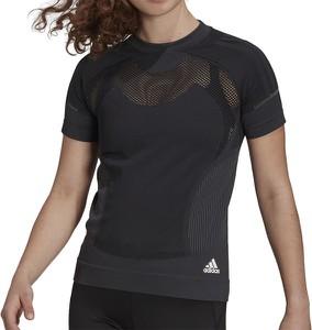 T-shirt Adidas w sportowym stylu z krótkim rękawem z okrągłym dekoltem