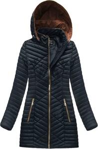 Granatowa kurtka G-STONE w stylu casual długa